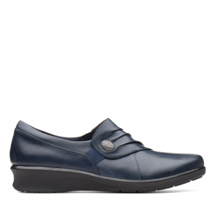 Clarks Hope Roxanne Navy Leather Womens Shoes